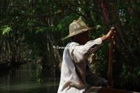 Thailande, marché flottant, Saduak